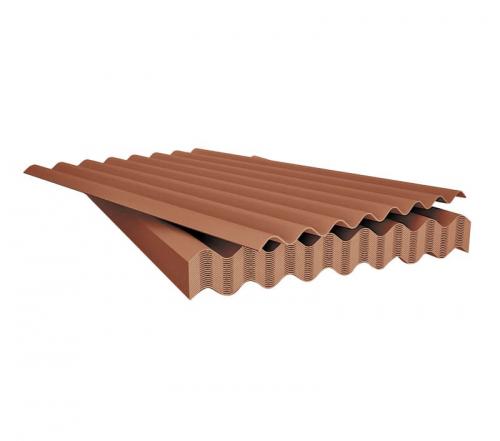 Шифер 1075*1013*5,2 мм коричневый (8-ми волновой)